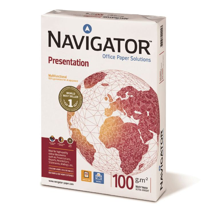 Navigator Presentation Paper 100gsm 500 Sheets White A4, , hi-res