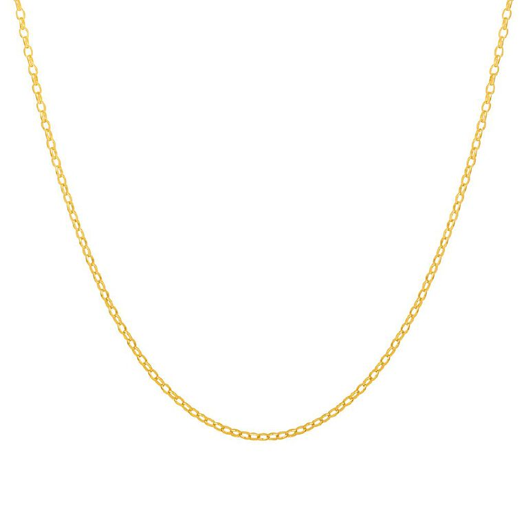 9ct Gold Oval Belch Chain 70cm, , hi-res