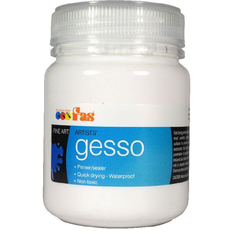 FAS Gesso Primer 250ml White, , hi-res