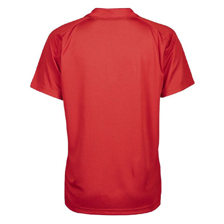 Schooltex Piopio College New Short Sleeve Polo with Embroidery, Red, hi-res