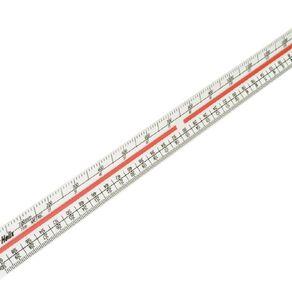 Helix Ruler Triangular Scale White