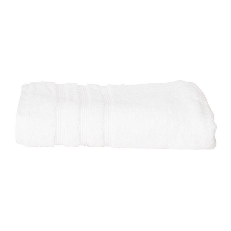 Living & Co Montreal Spa Towel Optic White 90cm x 150cm, White, hi-res image number null