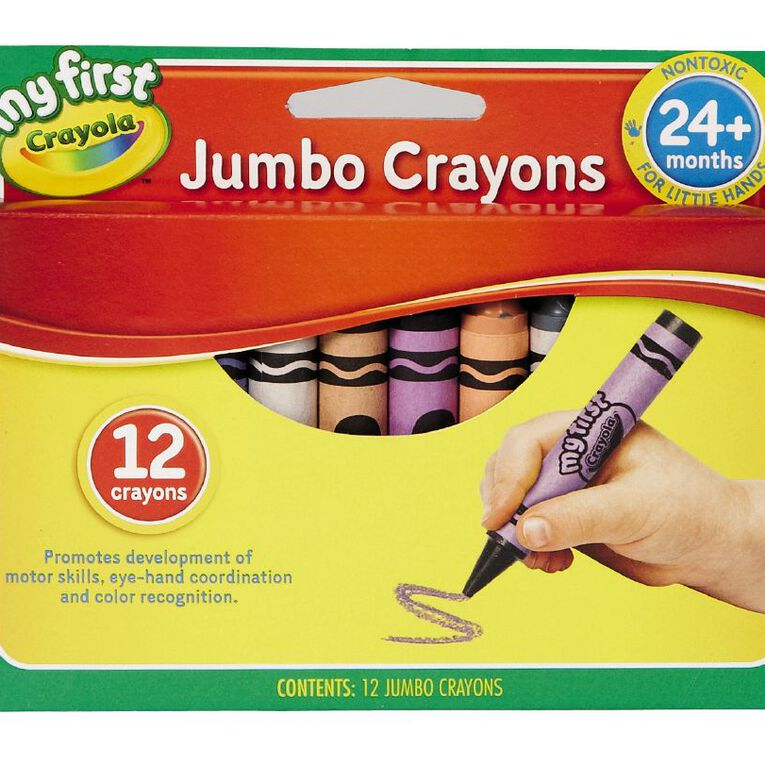 Crayola My First Crayons Multi-Coloured 12 Pack, , hi-res