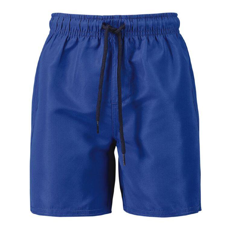 Young Original Plain Microfibre Shorts, Blue Mid, hi-res image number null