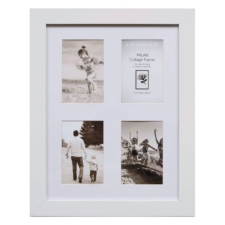 Living & Co Milan Collage Frame 30cm x 40cm White 30cm x 40cm, White, hi-res