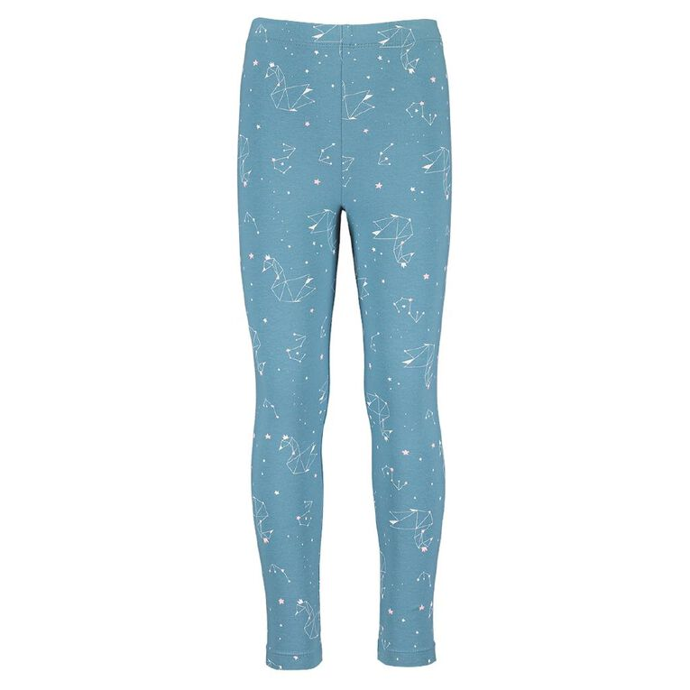 Young Original Girls' Lilly Leggings, Blue Mid, hi-res