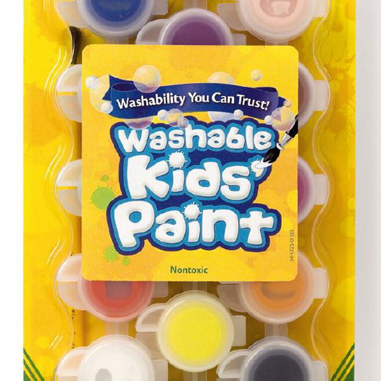 Crayola Washable Kids Paint 18 Pack Multi-Coloured, , hi-res