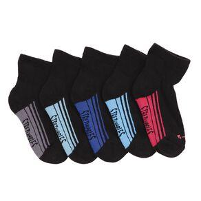 Rio Boys' Stretchables Quater Crew Socks 5 Pack
