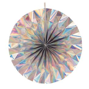 Party Inc Hanging Fan Iridescent 30cm