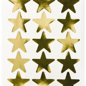 Quik Stik Labels Labels Stars Large Gold
