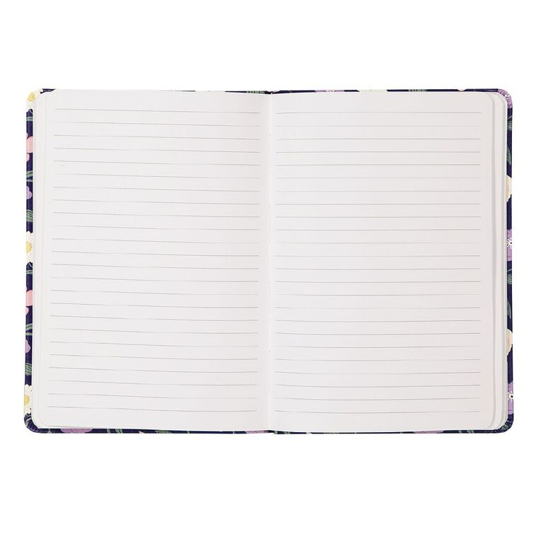 Uniti Blossom PU Notebook Hardcover Flowers Purple A5, , hi-res
