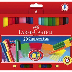 Faber-Castell Connector Felt Pens 20 Pack