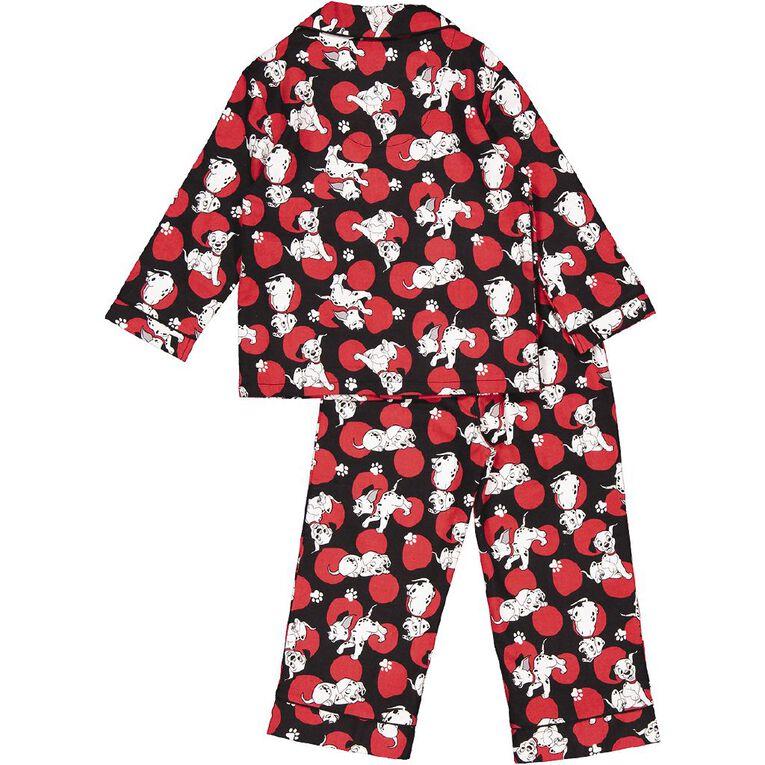 101 Dalmatians Kids' Flannelette Pyjamas, Red, hi-res