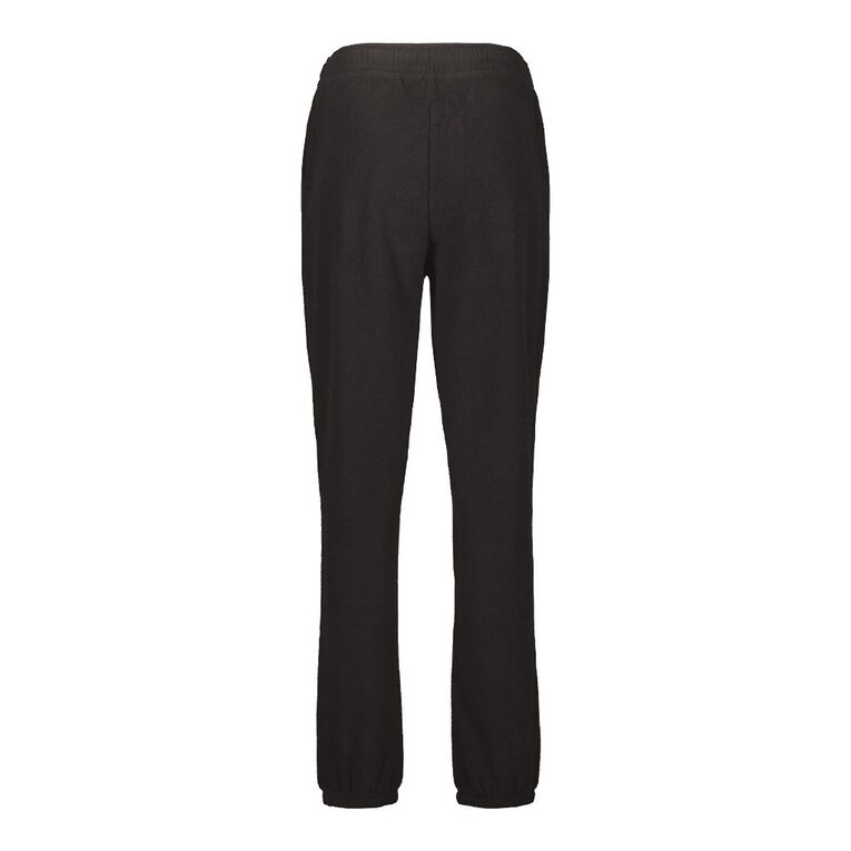H&H Women's Microfleece Trackpants, Black, hi-res image number null