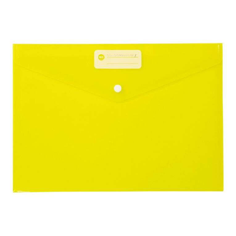 WS Document Envelope Dome Yellow, , hi-res