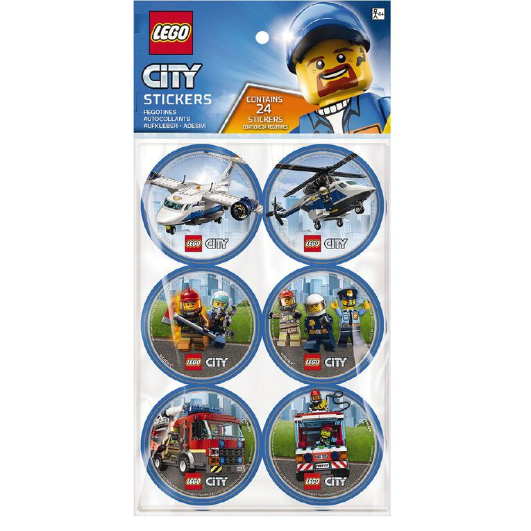LEGO City Stickers 24 Pack, , hi-res