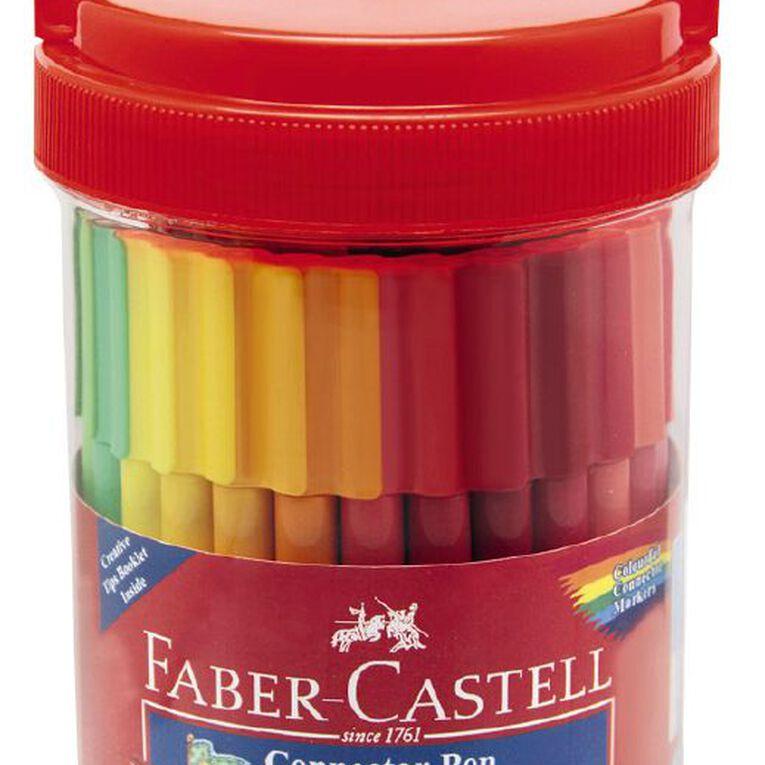 Faber-Castell Connector Felt Pens Bucket 50 Pack, , hi-res