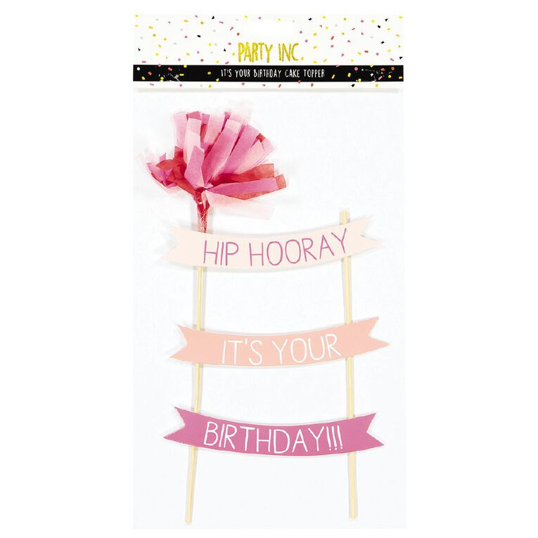 Party Inc Party Birthday Cake Topper, , hi-res