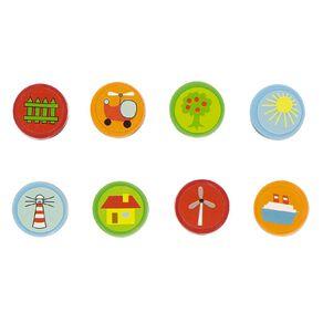 Kookie Stamp Set 8 Multi-Coloured 8 Pack