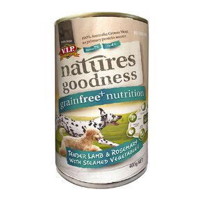 Natures Goodness Dog Lamb/Rosemary and Steamed Vegetables 400g