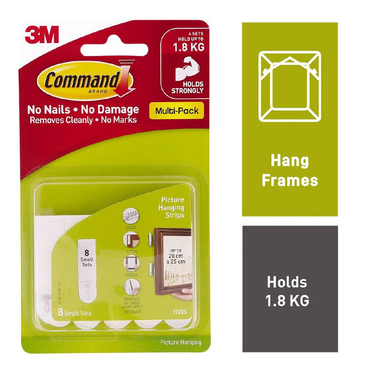 Command Picture Hanging Strips 17205 Small Value Pack White, , hi-res