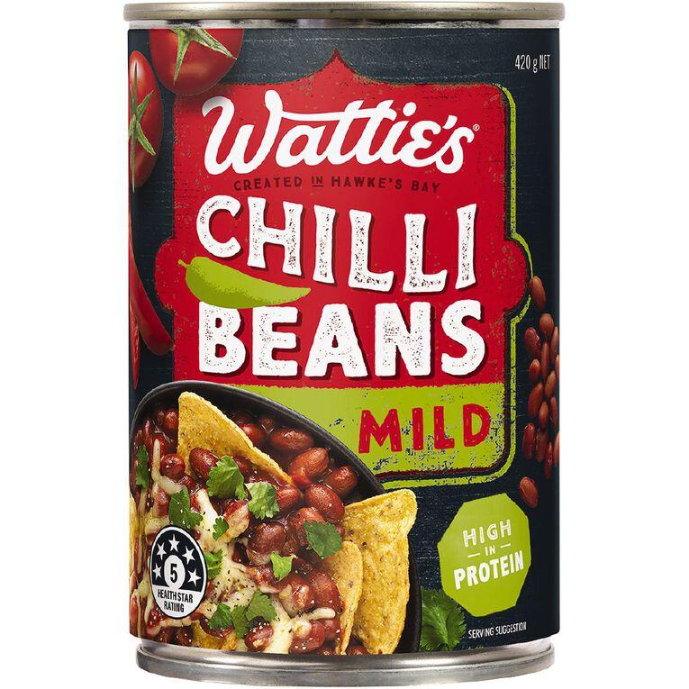 Wattie's Baked Beans Chilli Mild 420g, , hi-res