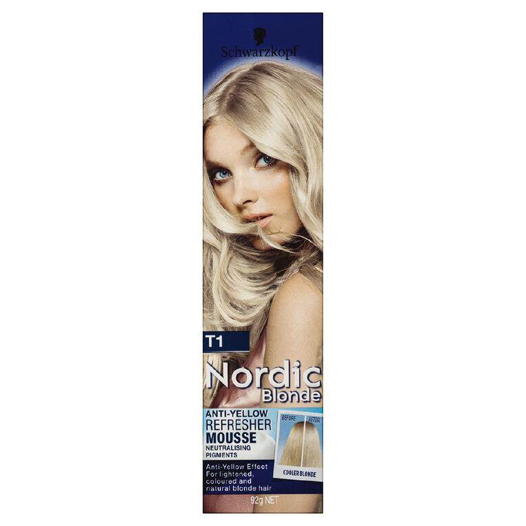 Schwarzkopf Nordic Blonde T1 Refresher Mousse, , hi-res