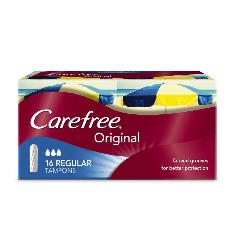 Carefree Original Regular Tampons 16 Pack, , hi-res