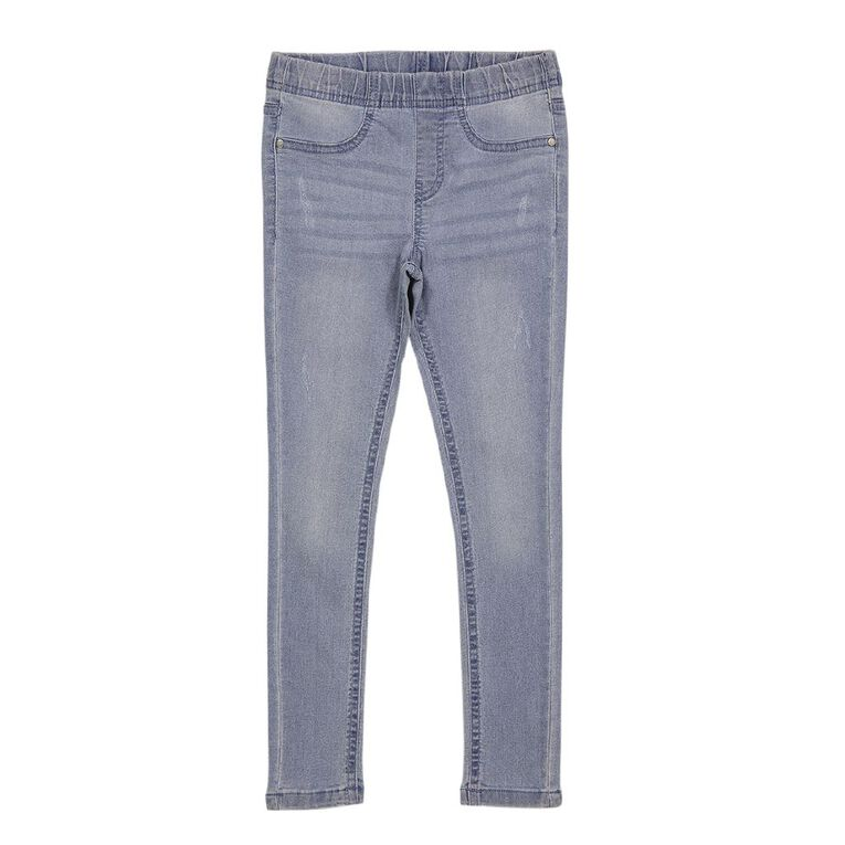 Young Original Girls' Pull On Jeans, Blue Mid, hi-res