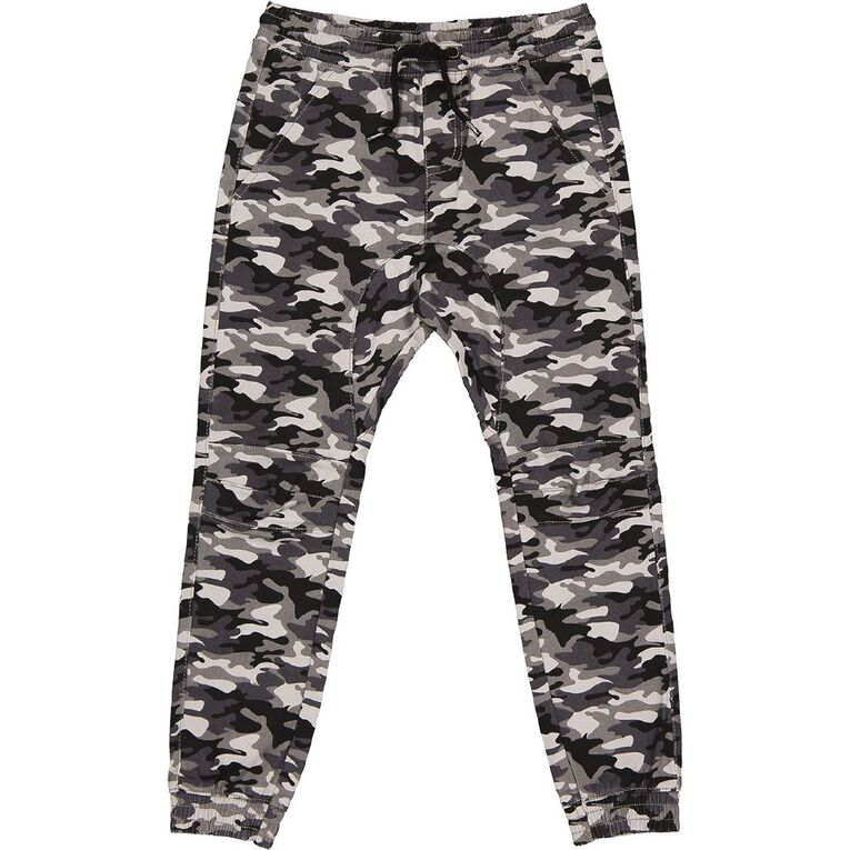 Young Original AOP Moto Chino Pants, Grey Mid, hi-res