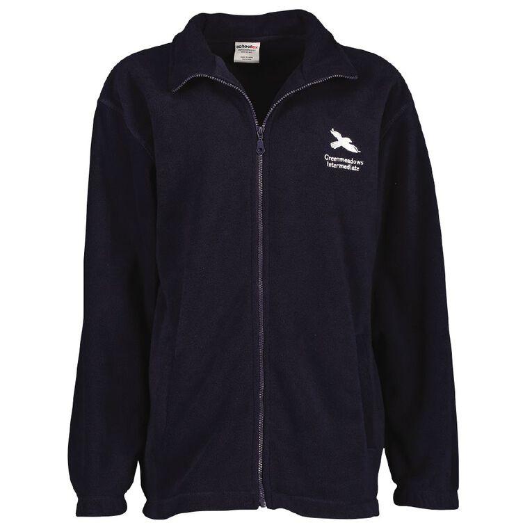 Schooltex Greenmeadows Intermediate Polar Fleece Jacket with Embroidery, Navy, hi-res