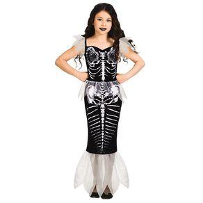 Amscan Skeleton Mermaid Kids Costume 7-8 Years