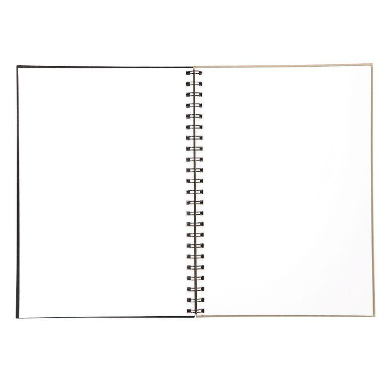Uniti Visual Diary Spiral 110gsm 60 Sheet Black A4, , hi-res