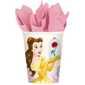 Disney Beauty and the Beast Paper Cups 266ml 8 Pack