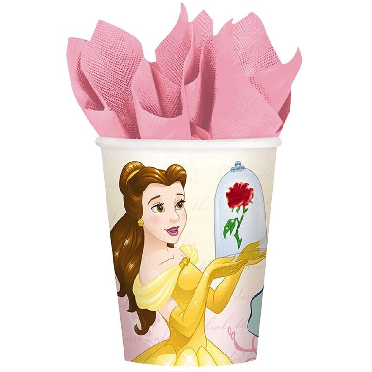 Disney Beauty and the Beast Paper Cups 266ml 8 Pack, , hi-res