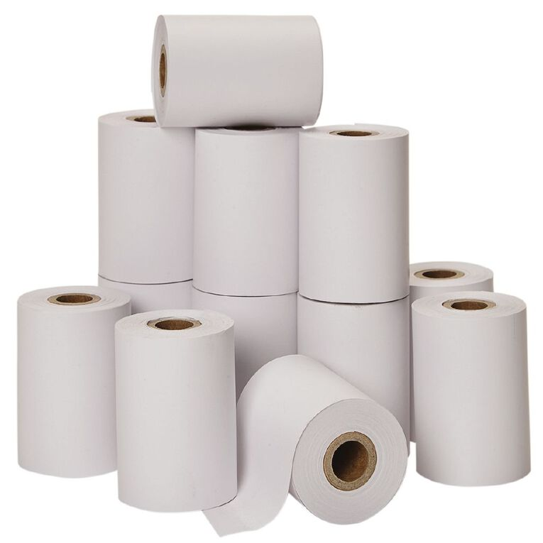 WS Eftpos Roll 57 x 40mm Thermal White 12 Pack, , hi-res