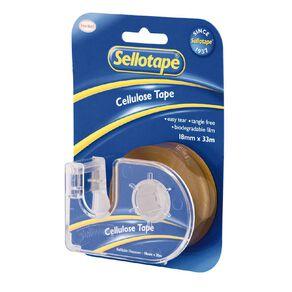 Sellotape Tape Dispenser 18mm x 33m Single Clear