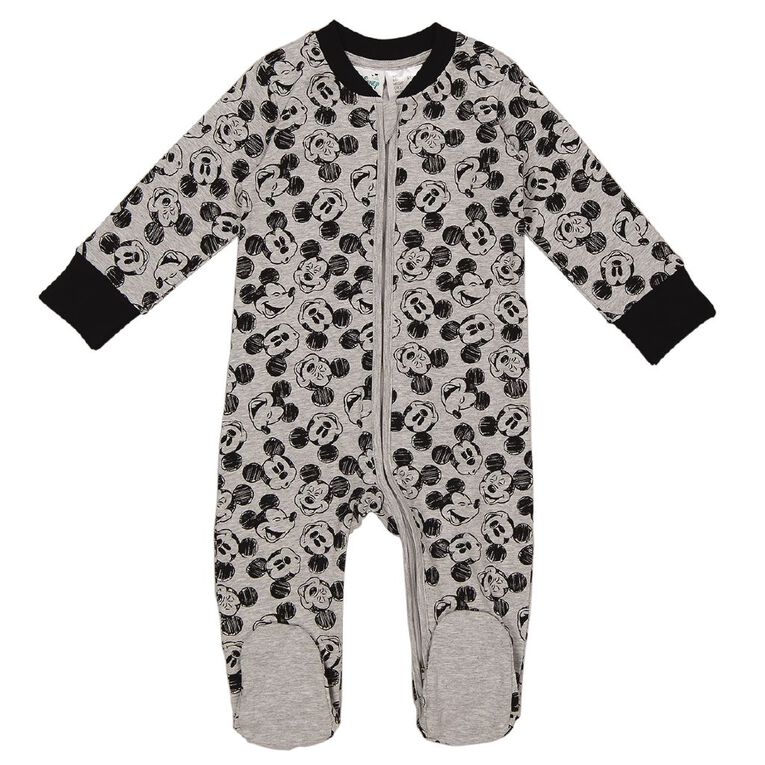 Mickey Mouse 2 Way Zip All In One, Grey Mid, hi-res