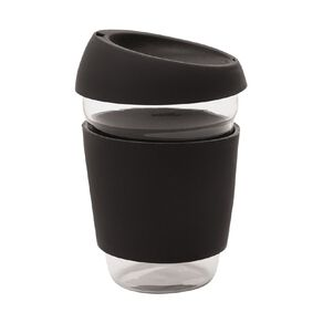 Living & Co Glass Travel Cup Black 410ml