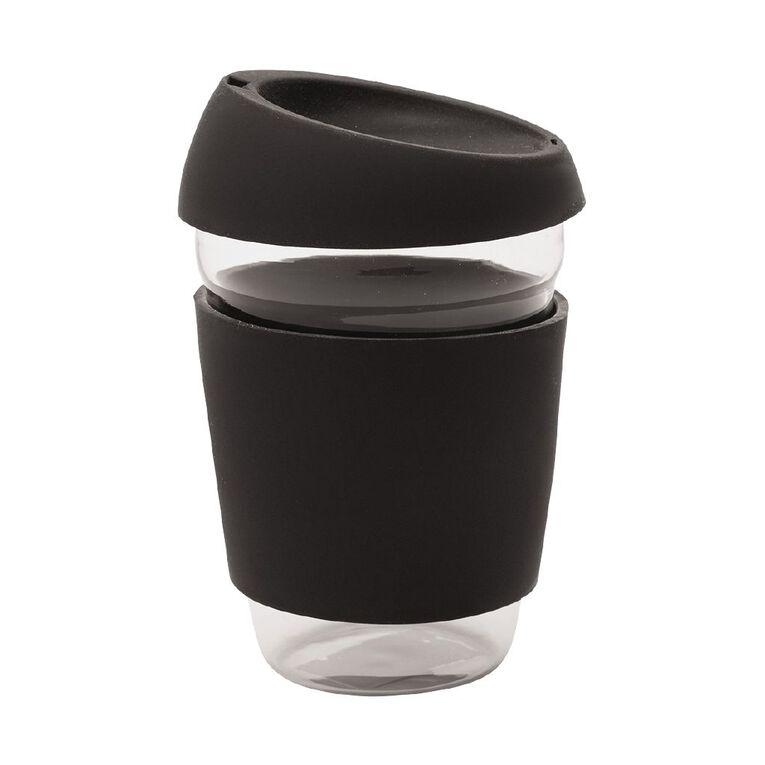 Living & Co Glass Travel Cup Black 410ml, , hi-res