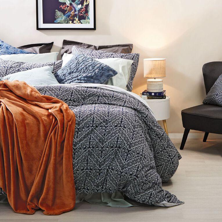 Living & Co Blanket Plush Orange Queen, , hi-res image number null