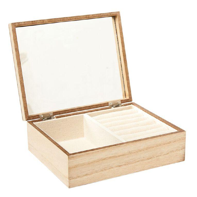 Living & Co MDF Jewellery Box Natural, , hi-res