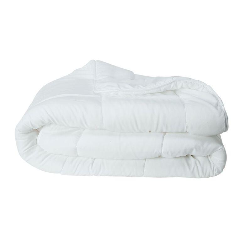 Living & Co Duvet Inner Lightweight Microfibre White Queen, White, hi-res
