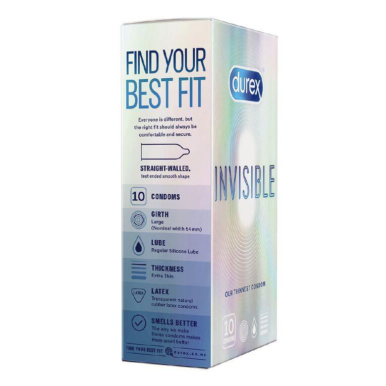Durex Invisible Condoms 10 Pack, , hi-res