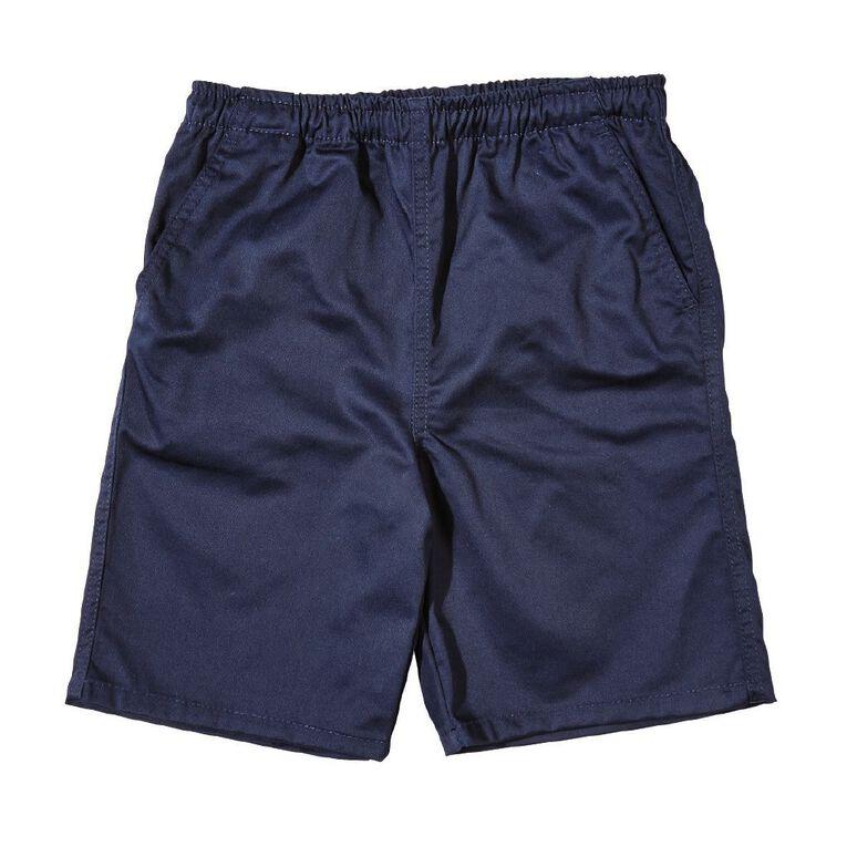 Schooltex Kids' Drill Rugger Shorts, Navy, hi-res
