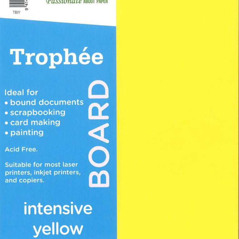 Trophee Board 210gsm 12 Pack Intensive Yellow A4, , hi-res