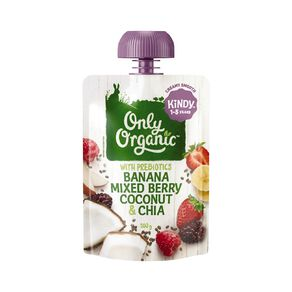 Only Organic Mixed Berry Coconut Chia Seeds 100g