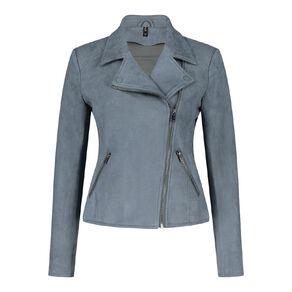 H&H Women's Faux Suede Biker Jacket