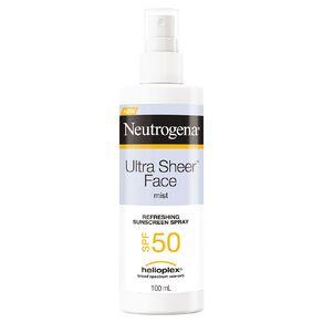 Neutrogena Ultra Sheer Facial Mist SPF50