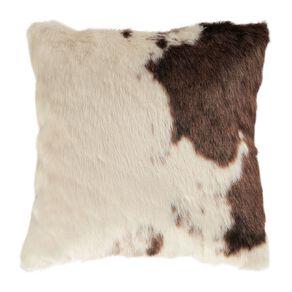Living & Co Faux Cow Hide Cushion Brown 45cm x 45cm